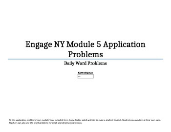 FREE Engage NY Module 5 application problems