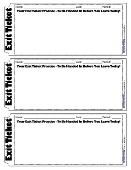FREE Exit Ticket Template
