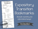 FREE Explanatory/Expository or Informational Transition Bookmarks