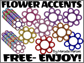 FREE FLOWER ACCENTS-MINI FRAMES- -COMMERCIAL USE