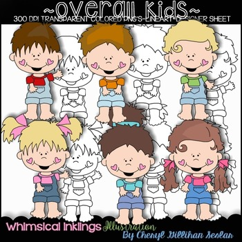 FREE FREE FREE Overall Kids Clipart Collection
