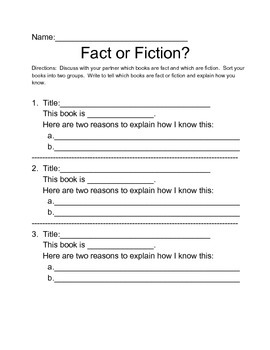 Fact or Fiction Center Partner Activity