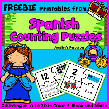 FREEBIE - Counting and Cardinality: Fairy Tale Counting Pu