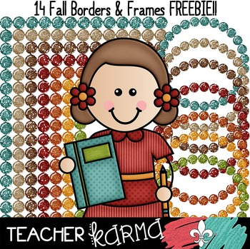 FREE Fall Borders & Frames for Teachers * Back to School