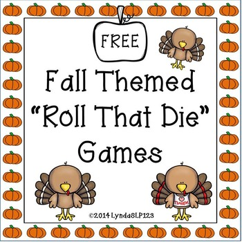 FREE! Fall Themed Roll That Die {open ended games}