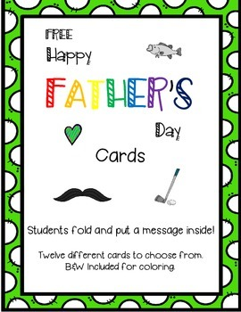 FREE - Father's Day Cards