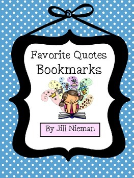 FREE! Favorite Quotes Bookmarks