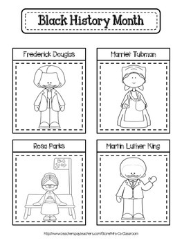 FREE - February Interactive Notebook Page - Black History Month