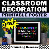 Free Printable Character Quote Poster #kindnessnation #weh