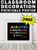 Free Printable Character Quote Poster Back to School Teach