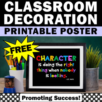 free printable teacher classroom poster gift idea