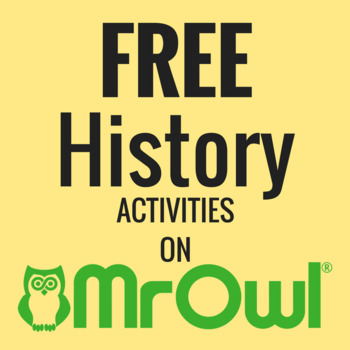 FREE First Grade History Activities on MrOwl