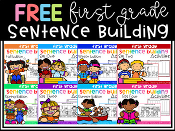 FREE First Grade Sentence Building (Fall Edition)