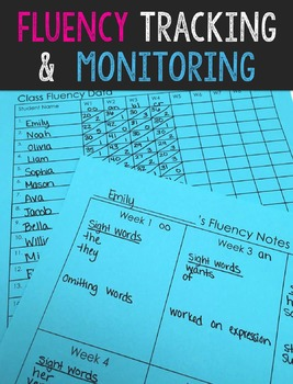 FREE Fluency Tracking and Monitoring Binder