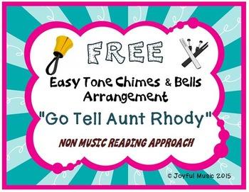 FREE Folk Song Easy Tone Chimes & Bells GO TELL AUNT RHODY
