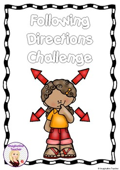 FREE Following Directions Challenge