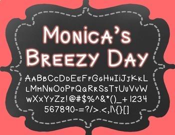 {FREE} Font - Monica's Breezy Day