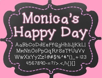 {FREE} Font - Monica's Happy Day