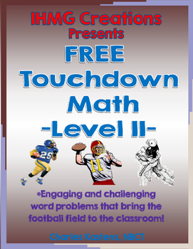 FREE Football Math-Level II (Common Core)