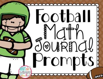 FREE Football Math Journal Prompts