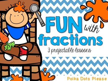 FREE Fraction Fun Projectable Math Lessons and Printables