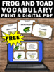 FREE Download Frog and Toad All Year Book Activities Vocab
