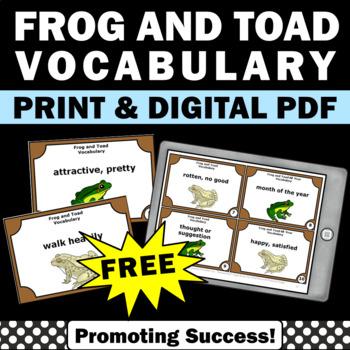 frog and toad all year vocabulary book activities