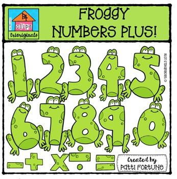 FREE Froggy Numbers Plus {P4 Clips Triorignals Digital Clipart}