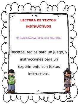 "FREE!  GRATIS!  Posters/Carteles ""Lectura de textos instructivos"""