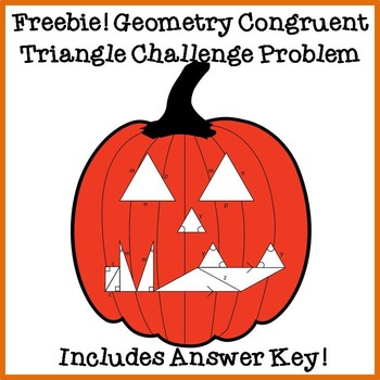 FREE Geometry Congruent Triangle Challenge Problem and Col