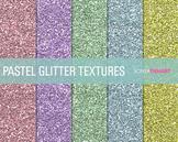 FREE Glitter Digital Paper Textures Pastel Glitters