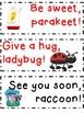 FREE Goodbye Phrase Cards
