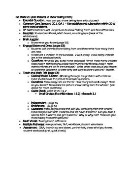 FREE Grade 1 Go Math! Chap 2 Lesson Plans (Based on School