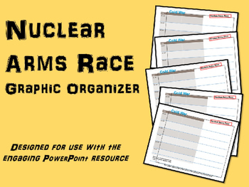 FREE Graphic Organizer for Nuclear Arms Race (part of Cold