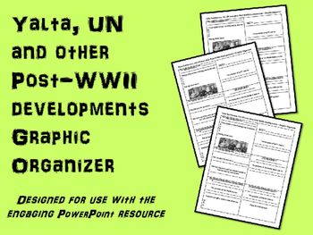 FREE Graphic Organizer for Yalta, UN and other Post-WWII d