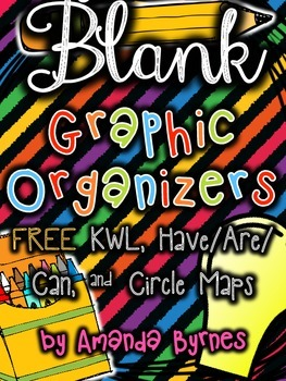 FREE Graphic Organizers (Blank Templates) - KWL, Have/Are/