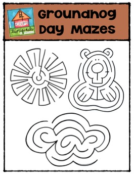 FREE Groundhog Day Mazes {P4 Clips Trioriginals Digital Clip Art}