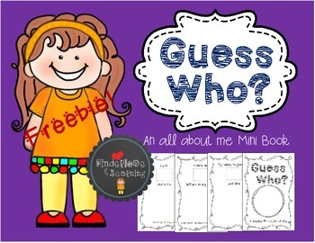 Guess Who? {An all about me Mini Book} Freebie!