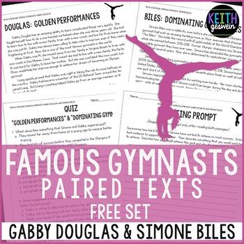 FREE Gymnastics Paired Texts: Gabby Douglas & Simone Biles