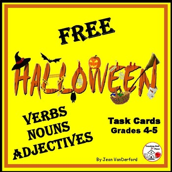 FREE HALLOWEEN | Vocabulary | VERBS, NOUNS, ADJECTIVES |16