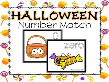 FREE Halloween Candy Number Match