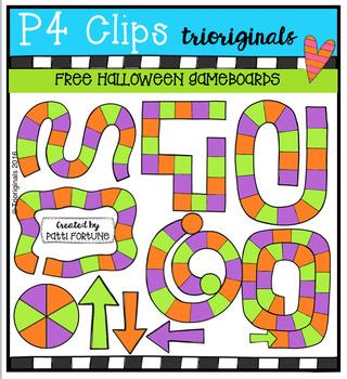 FREE Halloween Game Boards (P4 Clips Trioriginals Digital