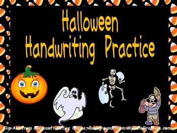FREE Halloween Handwriting Practice- Kindergarten & 1st Grade