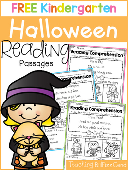 FREE Halloween Reading Comprehension Passages