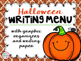 FREE Halloween Writing Menu with Graphic Organizers and Paper