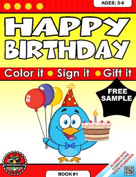 FREE Happy Birthday Greeting Card: Classroom Celebrations