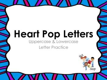 FREE! Heart Pop Uppercase & Lowercase Letter Cards