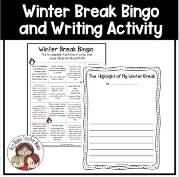 FREE Highlight of Winter Break Writing Activity