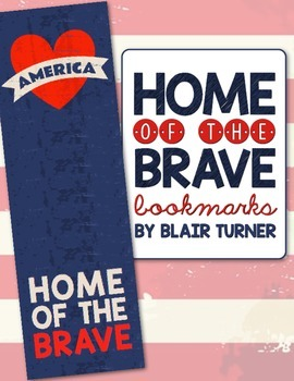 {FREE!} Home of the Brave Bookmarks