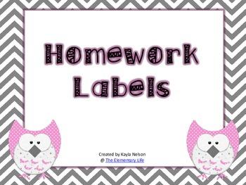 FREE Homework Labels
